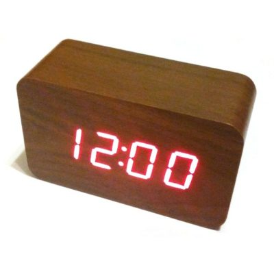 часы в виде бруска дерева Wooden Clock vst-863